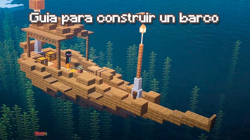 Como hacer un barco en Minecraft