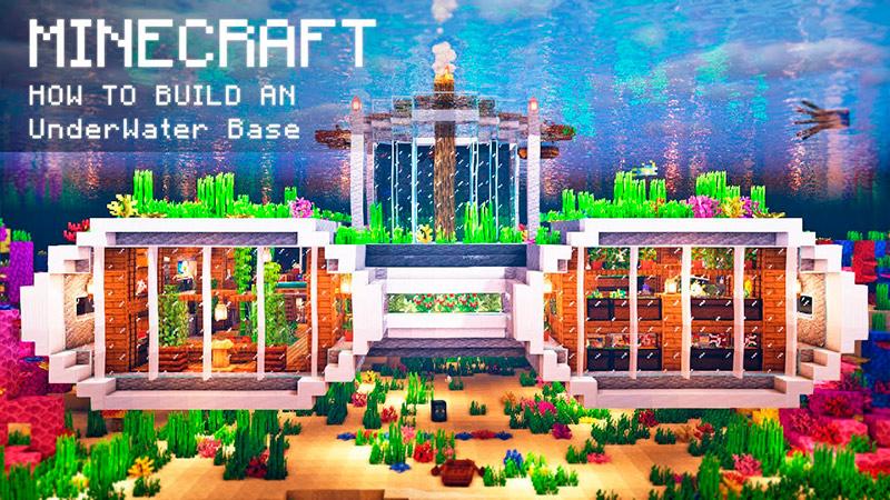 Portada base acuática en Minecraft