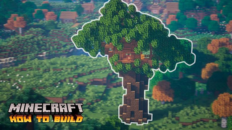 Portada casa del árbol en Minecraft