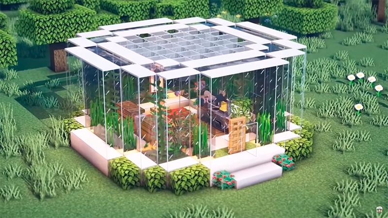 Casa acuario en Minecraft