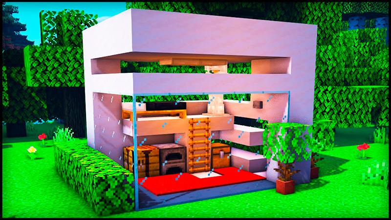 Casa pequeña moderna en Minecraft