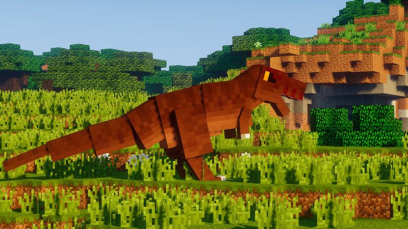 Tyrannosaurus del mod Fossils and Archeology Revival en Minecraft
