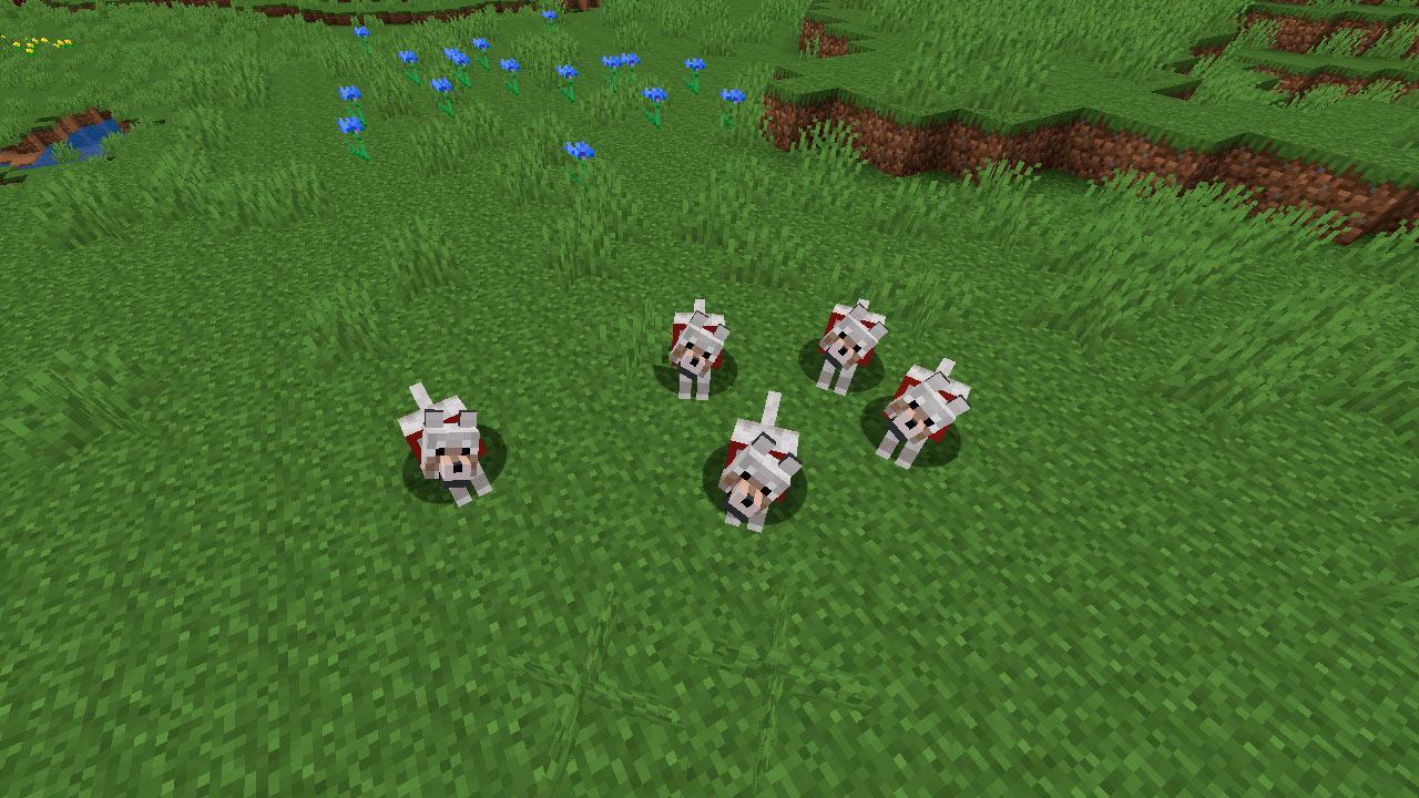 Lobos en Minecraft