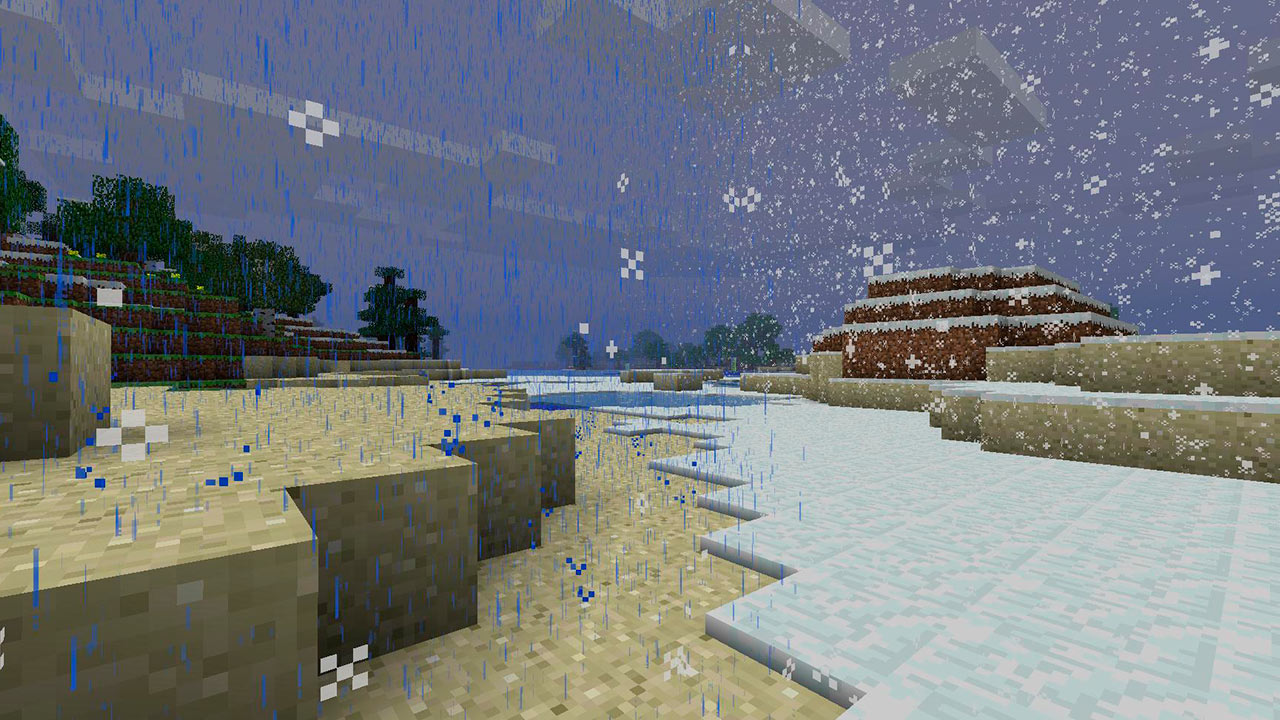 Nieve en Minecraft