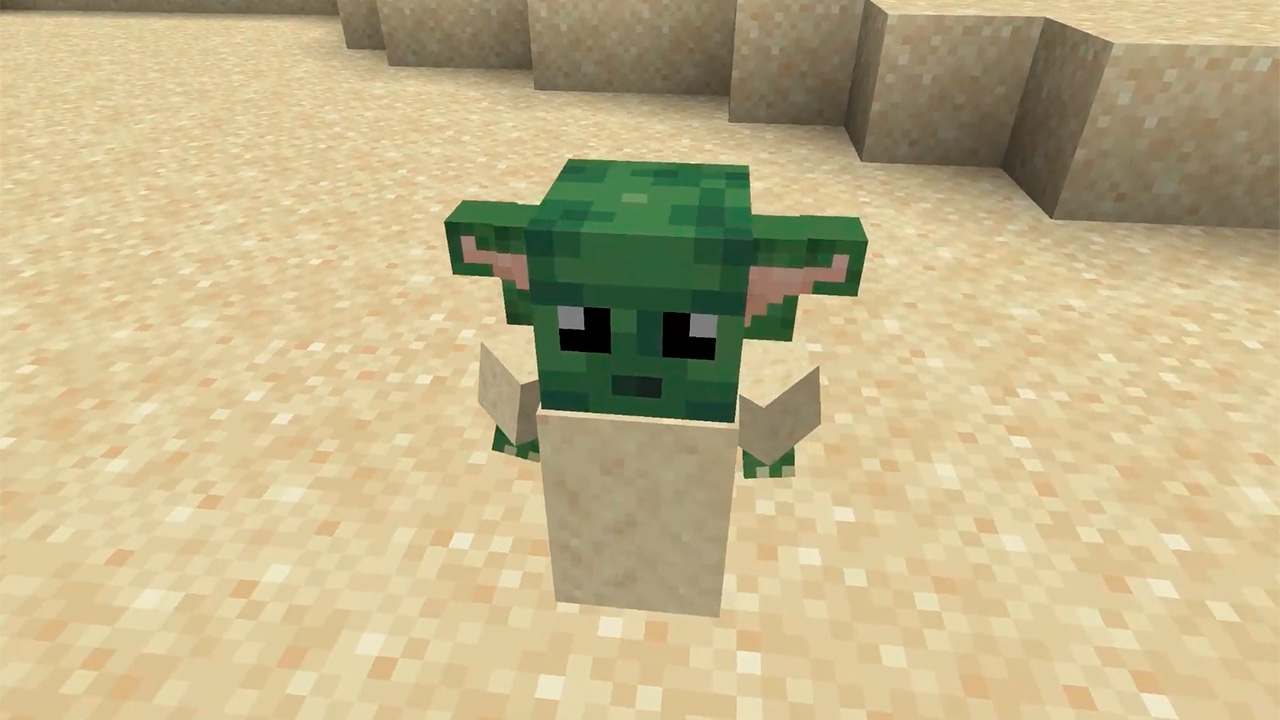Baby Yoda en Minecraft