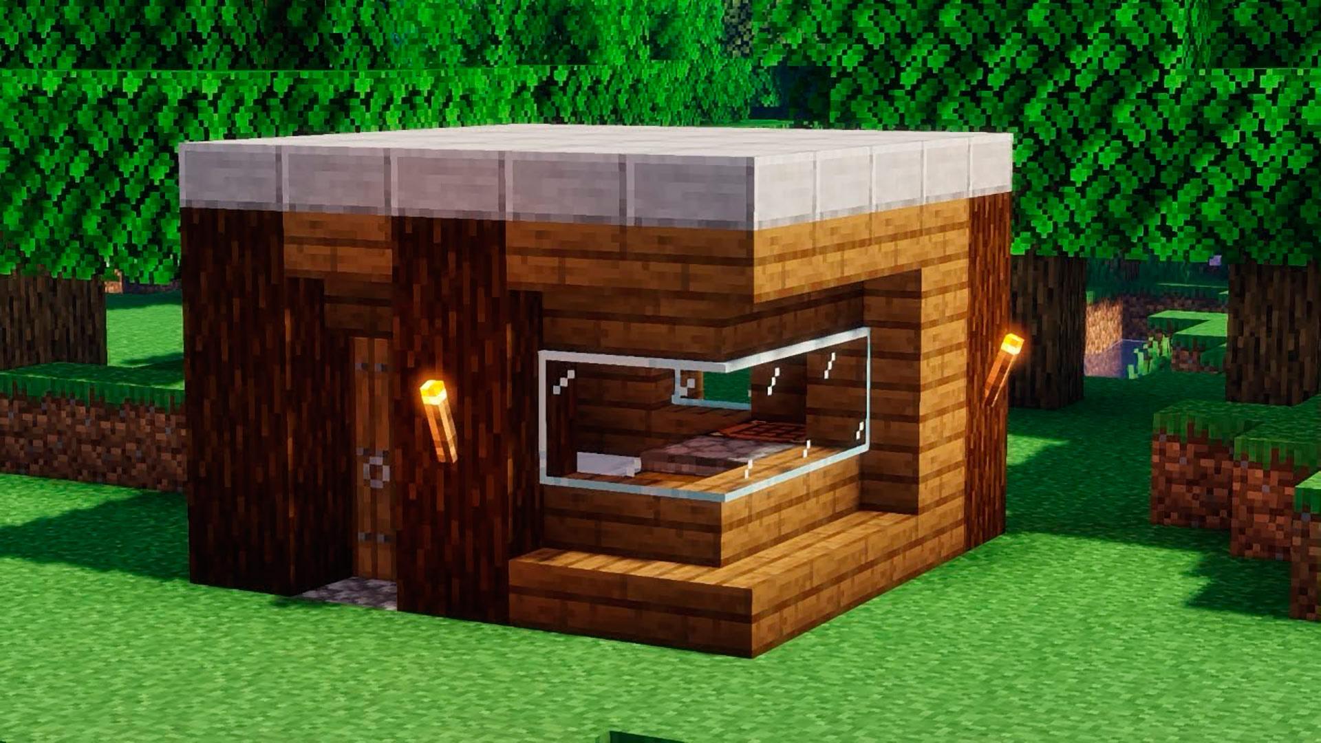 Casa de inicio para principiantes en Minecraft
